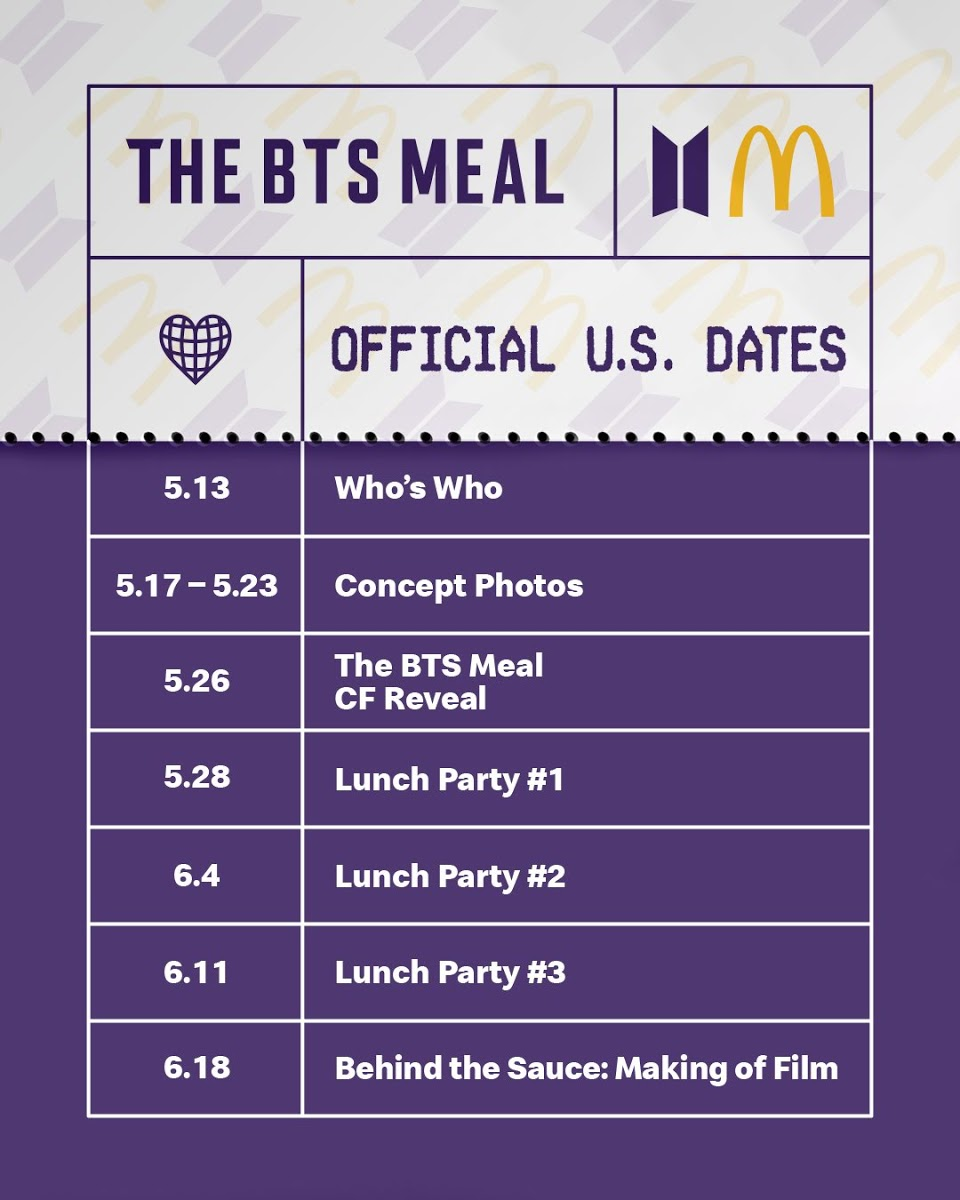mcdonalds dates